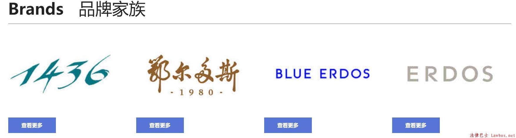 鄂尔多斯集团旗下五大羊绒品牌 ERDOS Men's、ERDOS Jeans、EMZ鄂尔多斯又是什么鬼